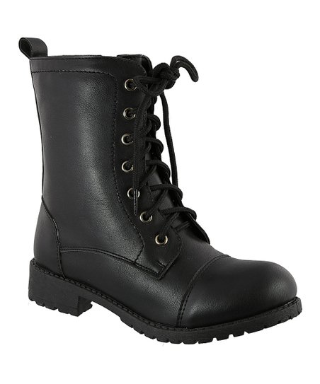 74714c33a04 love this product Black Ronnel Combat Boot - Girls