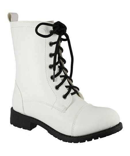 2daf988d12f love this product White Ronnel Combat Boot - Girls