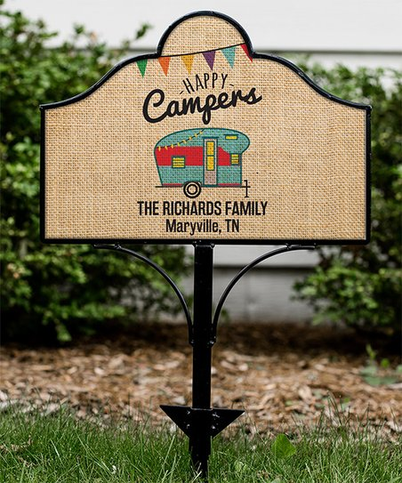 Giftsforyounow Happy Camper Magnetic Personalized Yard Sign