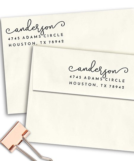 Simply Stamps Last Name Curly Script Personalized Address Stamp