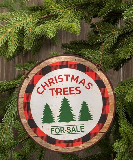 Ragon House Red White Christmas Trees For Sale Ornament Set Of