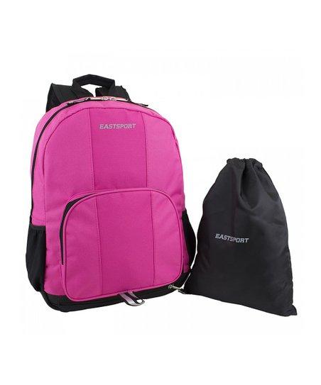 edeeef1542 Eastsport Pink Classic Backpack & Black Drawstring Bag | Zulily