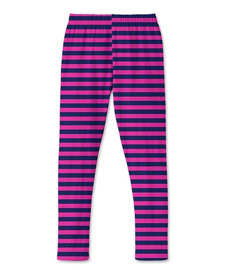 bfb681a2f9852 Sunshine Swing Pink & Navy Stripe Leggings - Toddler & Girls | Zulily