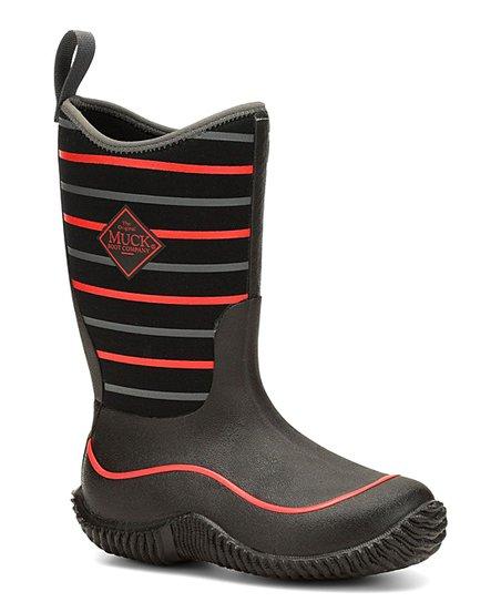 d479a15e36e The Original Muck Boot Company Black   Red Stripe Hale Rain Boot ...