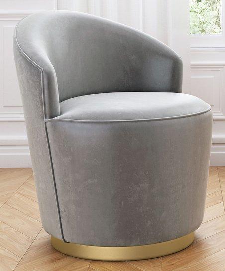 Enjoyable Zuo Gray Zoey Velvet Swivel Arm Chair Evergreenethics Interior Chair Design Evergreenethicsorg