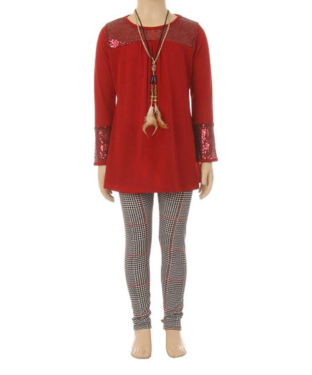 2c82b0f5276 Just Kids Red Sequin Tunic Set - Girls | Zulily