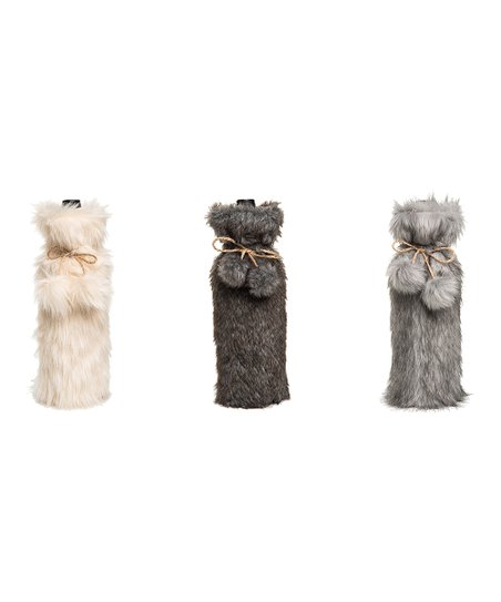 love this product Faux Fur Wine Bag - Set of Three a7f0988234
