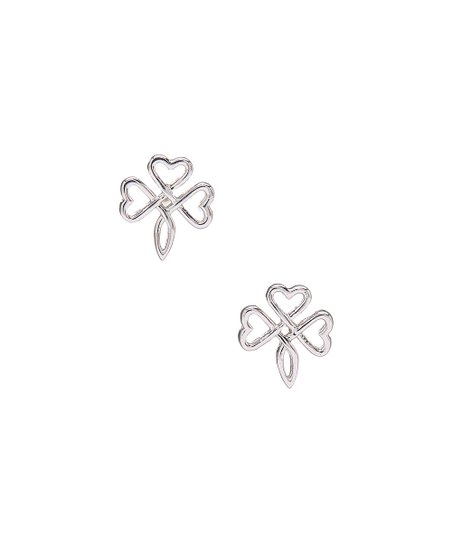 88bbf9a6a Mariposa by Athra Sterling Silver Triple-Heart Stud Earrings | Zulily