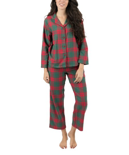 1a6be122b9 love this product Red   Green Plaid Flannel Pajama Set - Women