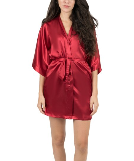 a43bc8a209 love this product Red Satin Robe - Women