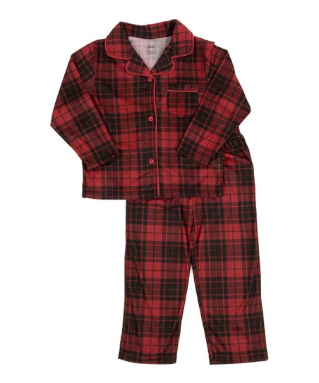 db0a2dd997 love this product Black   Red Plaid Flannel Pajama Set - Toddler   Kids