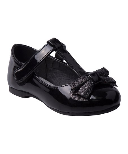 fa4d38bf9 Laura Ashley® Black Patent Bow T-Strap Mary Jane - Girls | Zulily