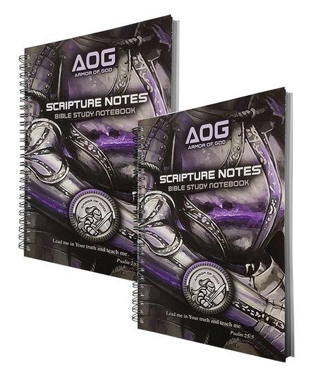 GTL Black & Violet Armor of God Bible Study Notebook Set