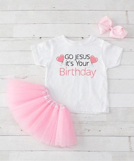 Birthday Balloons Toddler Hair Bow Set