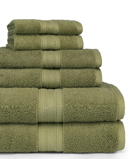 Fern Six Piece Bath Towel Set
