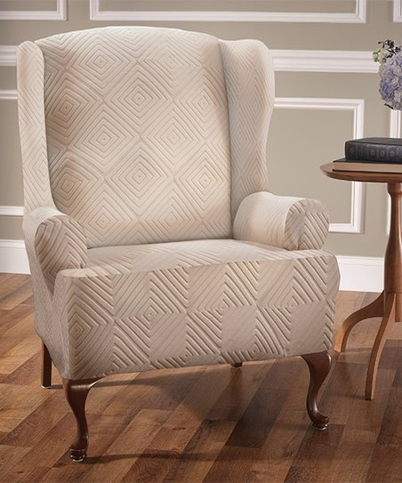 Terrific Jeffrey Home Ivory Diamond Stretch Sensations Shapely Gmtry Best Dining Table And Chair Ideas Images Gmtryco