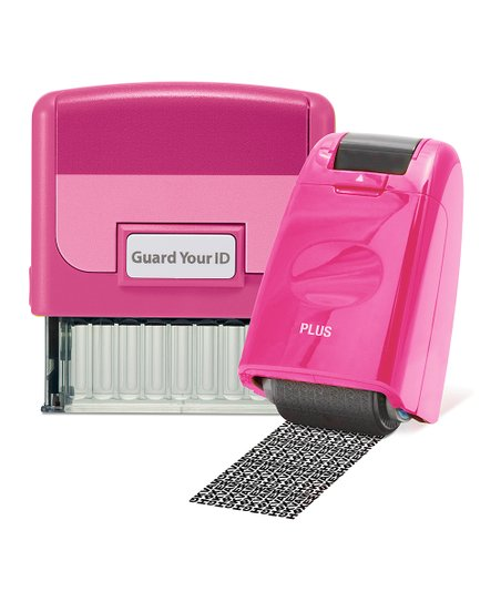 Love This Product Pink Guard Your ID Stamp Roller