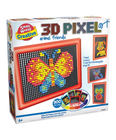 Small World Toys 3d Pixel Art Animal Friends Toy