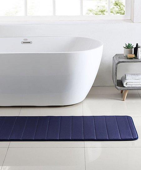 Meval Blue Memory Foam Runner Bath Rug