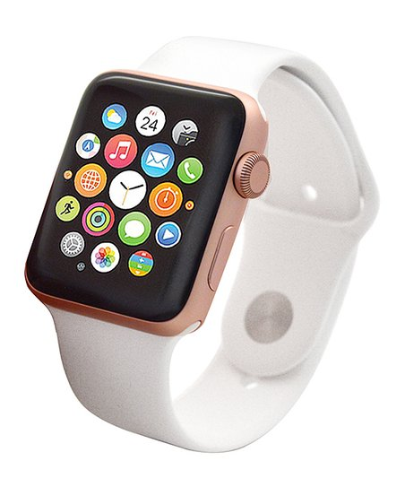 Apple Refurbished Rose Gold & White Sport 38mm Apple Watch Series 2
