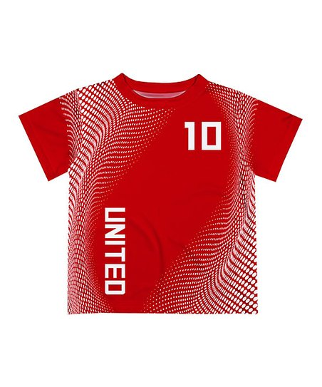 buy popular 98935 799b8 Monday's Child Red & White Personalized Soccer Jersey Tee - Infant, Toddler  & Boys