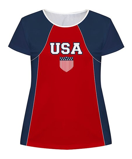 love this product Navy   Red USA Personalized Soccer Jersey Tee - Toddler    Girls 88076545d