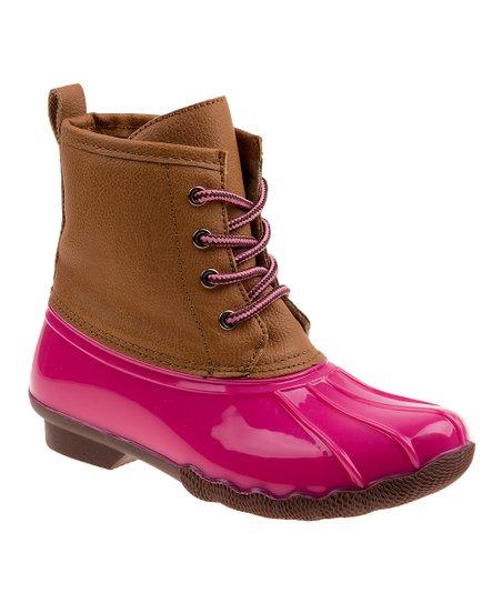 Tan Smart Step Duck Boot - Girls