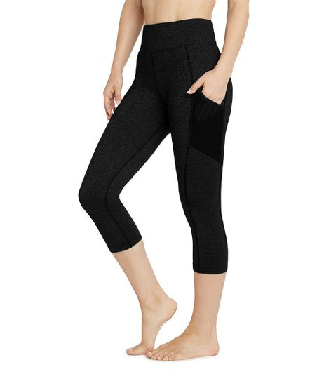 796b0b096f2 L.A.M. Black Emma Core-Control High-Waist Pocket 7/8 Capri Leggings - Women