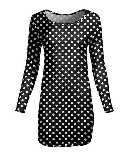 34cae04495e Lily Black & White Polka Dot Tunic - Women | Zulily