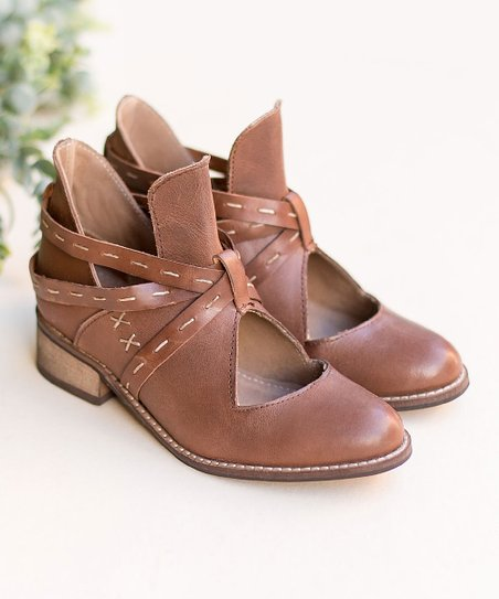 76f5882f88 Joyfolie Women Brown Oriana Leather Ankle Boot - Women | Zulily