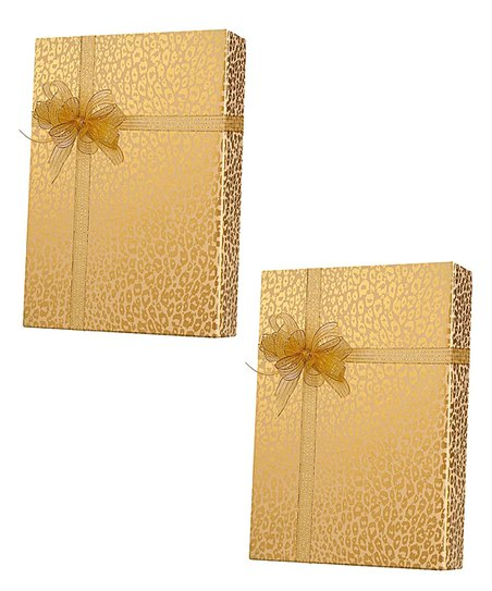 Gold Leopard Gift Wrap - Set of Two