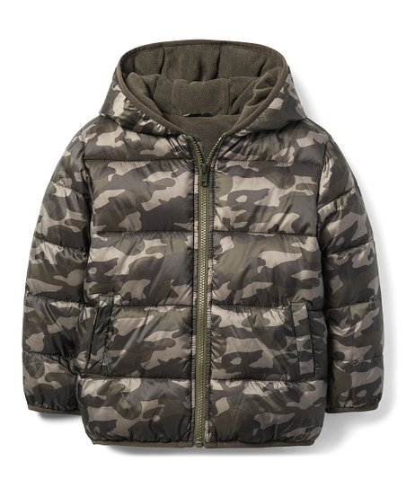 111f93fde Gymboree Olive Green Camo Puffer Jacket - Boys