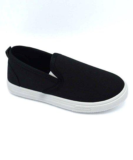 Com Fancy Black Slip-On Sneaker - Girls