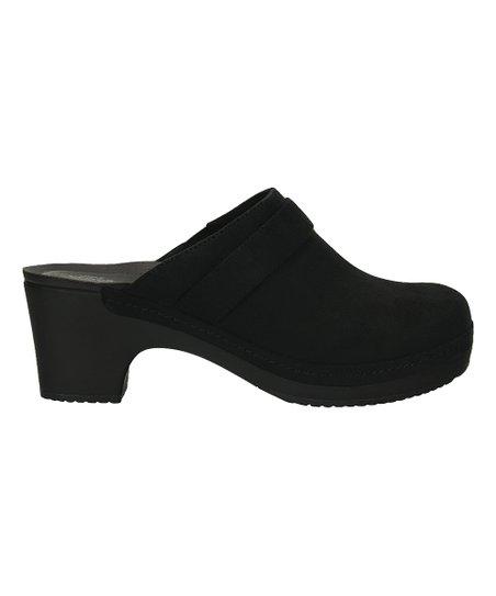Crocs Black Sarah Suede Clog - Women