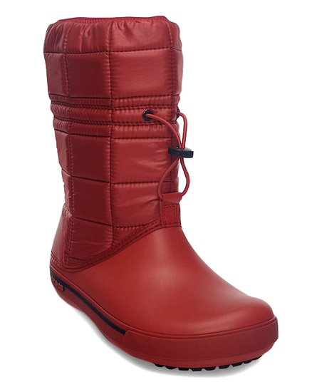 50c7c02efdd81 love this product Red   Navy Quilted Crocband II.5 Winter Boot - Women