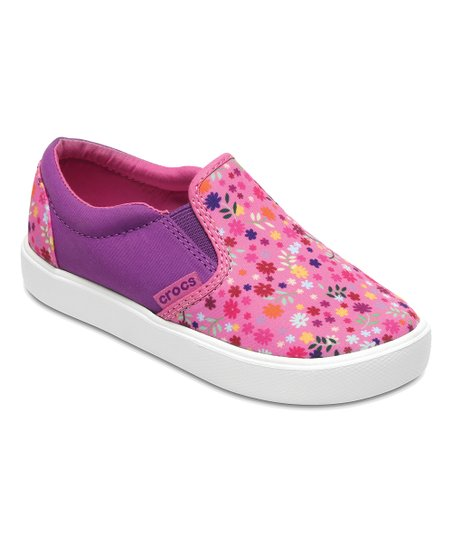 278de3523f673 love this product Pink Floral CitiLane Graphic Slip-On Sneaker - Girls