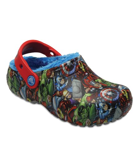 4b29242120422 love this product Avengers™ Navy Fun Lab Fuzz-Lined Clog - Boys