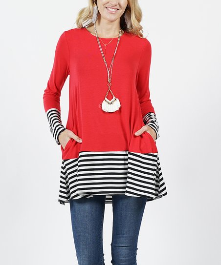 22fde66b520 love this product Ruby Stripe Color Block Side-Pocket Tunic - Women