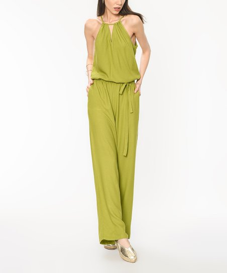 b5272f4218c love this product Green Tie Keyhole Romper - Plus