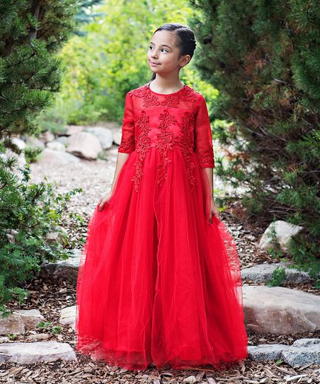 Red Gwendolyn Lace Gown Toddler S