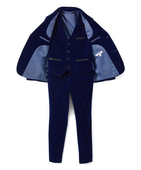 Boy/'s Velvet Blazer Cobalt Blue by Isaac Mizrahi