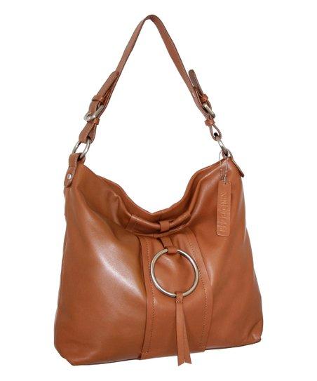 f682884c4 Nino Bossi Handbags Cognac Jaden Leather Hobo   Zulily