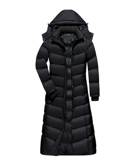89adf8c5d31ed love this product Black Full-Length Hooded Puffer Coat - Women   Plus