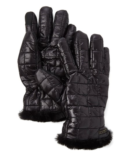 2978c3aabeb0 Body Glove Onyx Shiny Quilted Faux Fur Lined Women Zulily