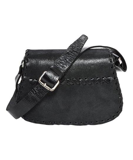 Carla Mancini Black Shimmer Katrina Leather Crossbody Bag  afa053ddfe2bb