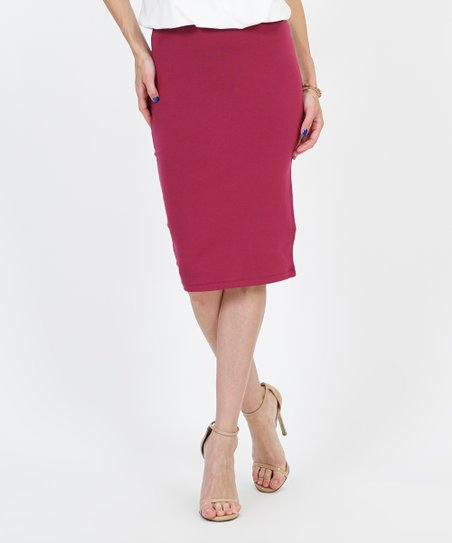 ee516e3e34 love this product Wine Pencil Skirt