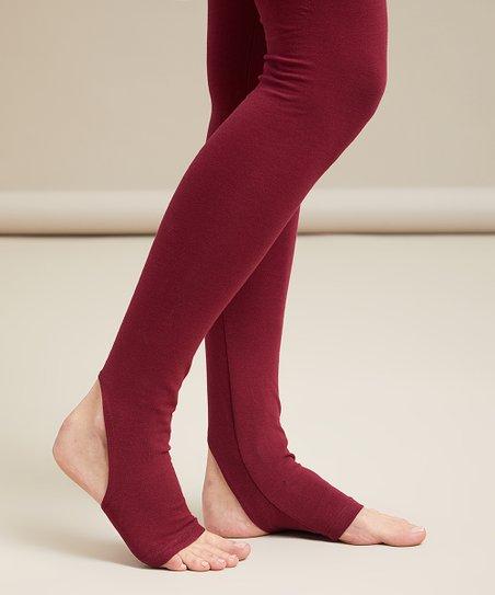 b3972e4149a221 love this product Wine High-Waist Stirrup Leggings - Plus