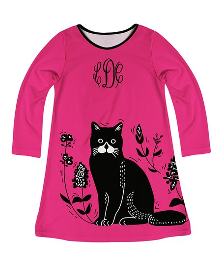 d67df94eda7 love this product Hot Pink Cat Monogram A-Line Dress - Infant