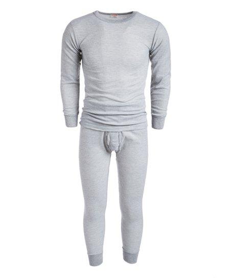 eef6138dd916b ROCKY Light Gray Waffle Thermal Underwear Set - Men | Zulily