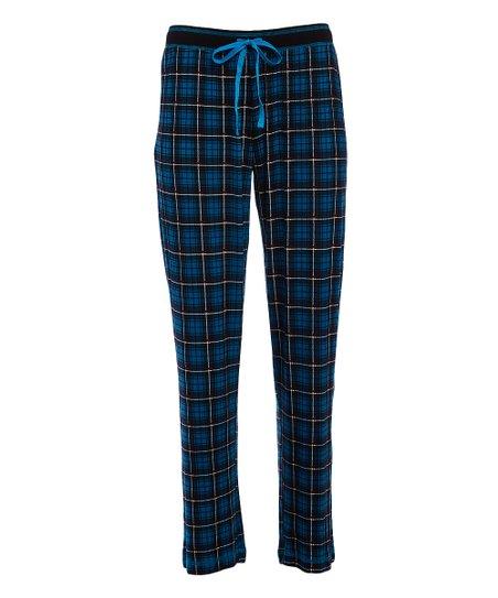 f3b496af14c5 René Rofé Blue   Yellow Plaid Pajama Pants - Women